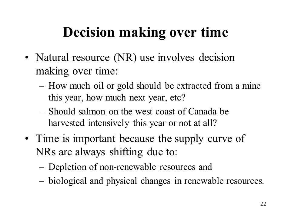 Decision making over time