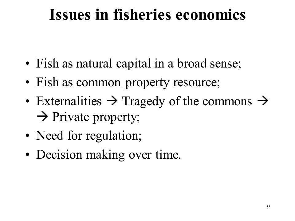 Issues in fisheries economics