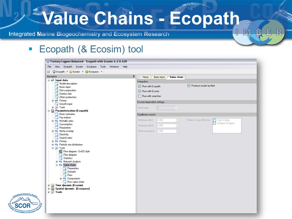 Value Chains - Ecopath Ecopath (& Ecosim) tool