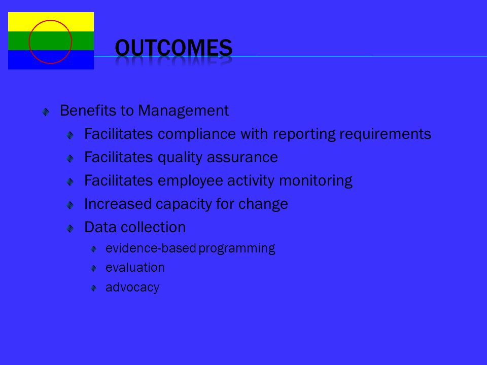 Outcomes Benefits to Management