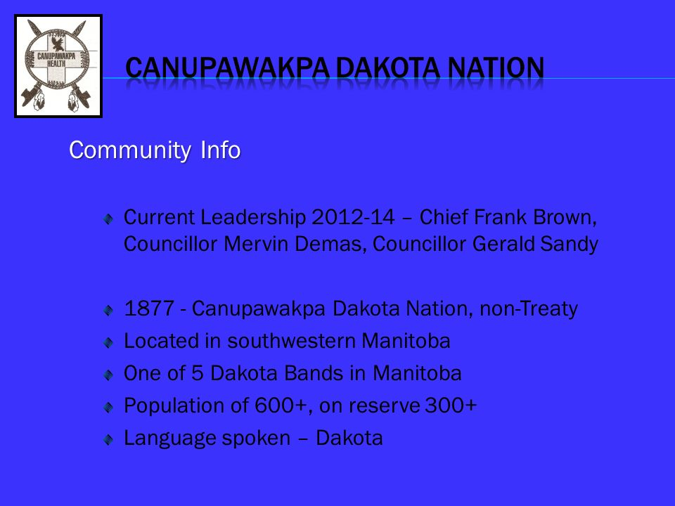 CANUPAWAKPA DAKOTA NATION