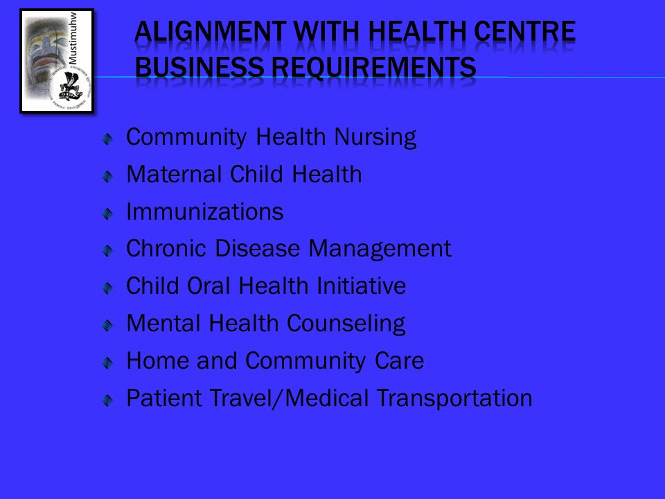 ALIGNMENT WITH HEALTH CENTRE BUSINESS REQUIREMENTS