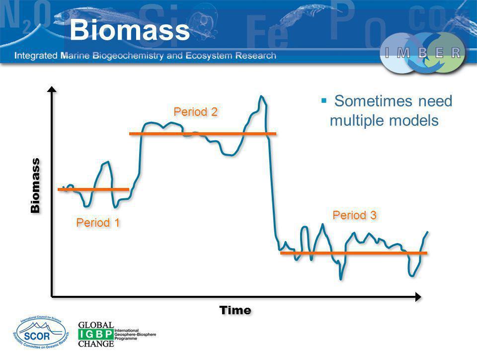 Biomass Sometimes need multiple models Period 2 Biomass Period 3