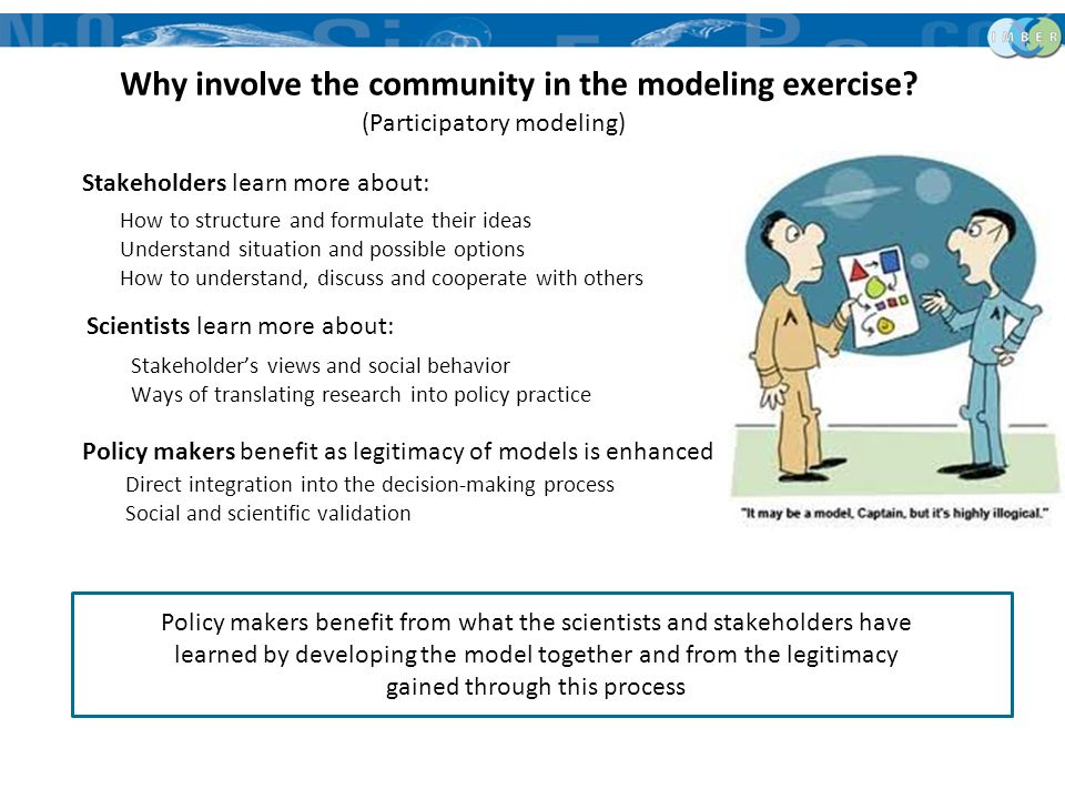 Why involve the community in the modeling exercise