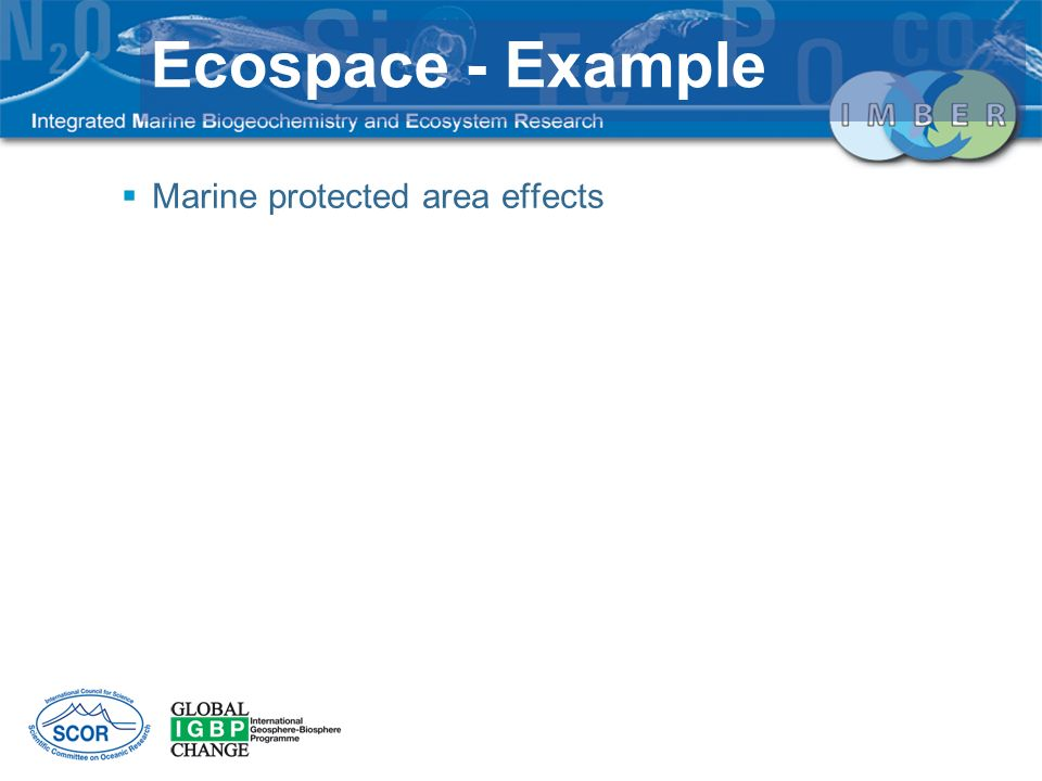 Ecospace - Example Marine protected area effects
