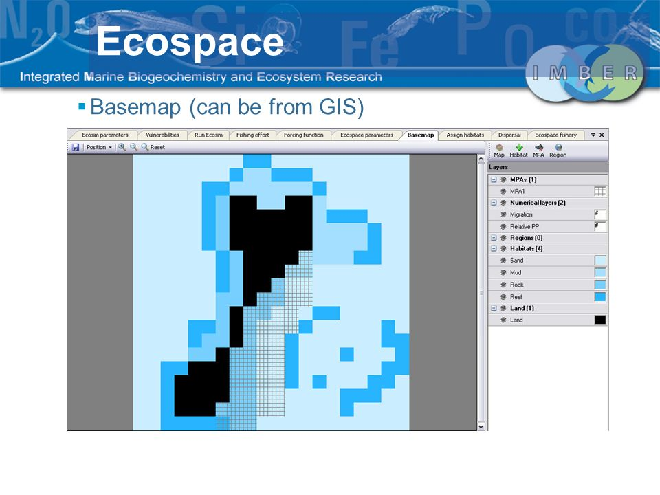 Ecospace Basemap (can be from GIS)