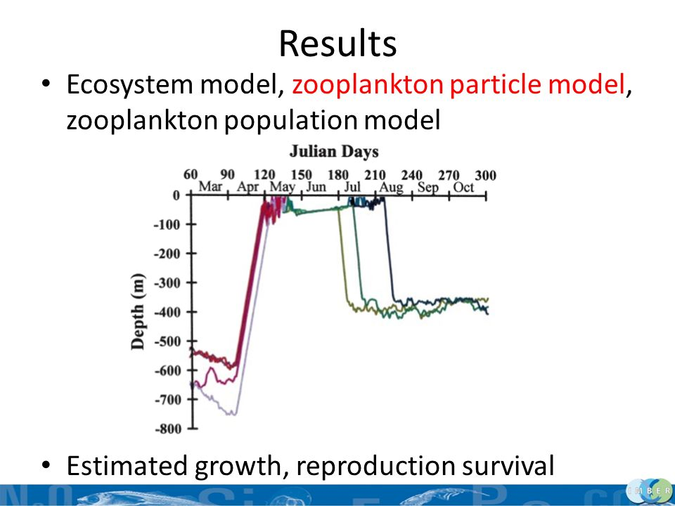 Results Ecosystem model, zooplankton particle model, zooplankton population model.