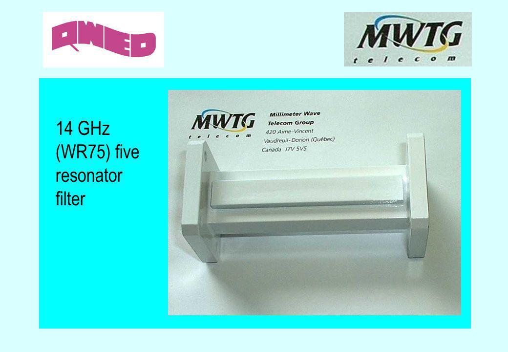 14 GHz (WR75) five resonator filter