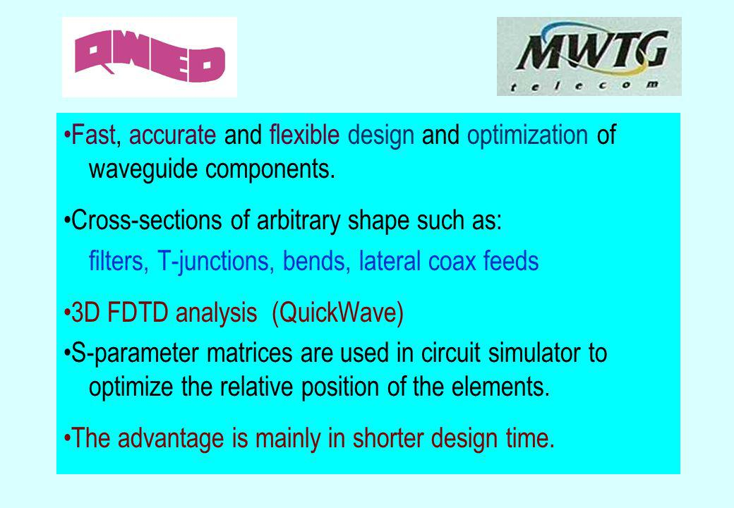 •Fast, accurate and flexible design and optimization of waveguide components.