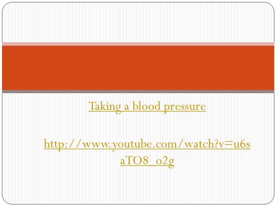 taking blood pressure manually video