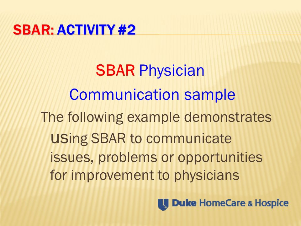 Clinician Module SBAR: Made Easy SBAR - ppt video online download