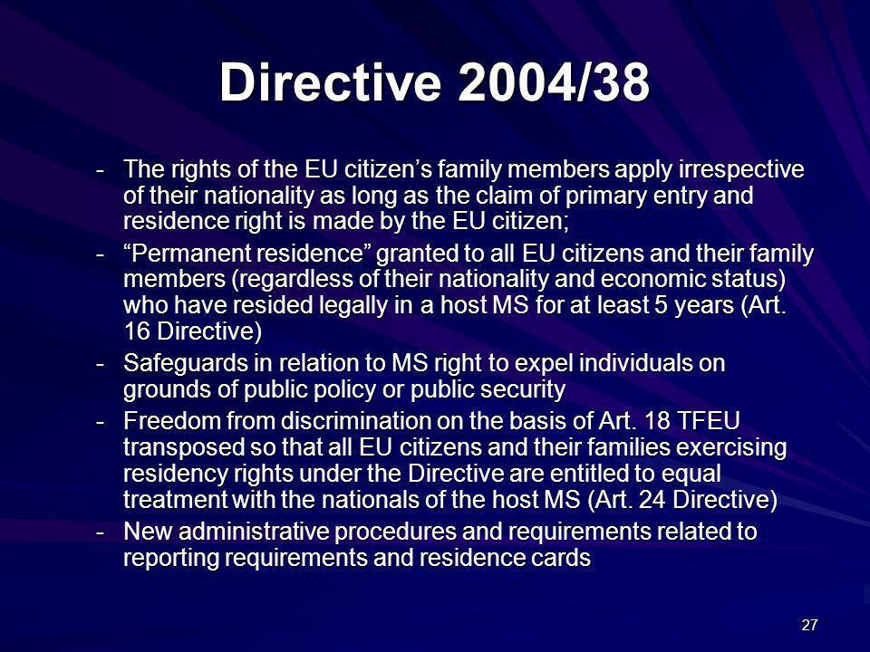 Directive 2004/38