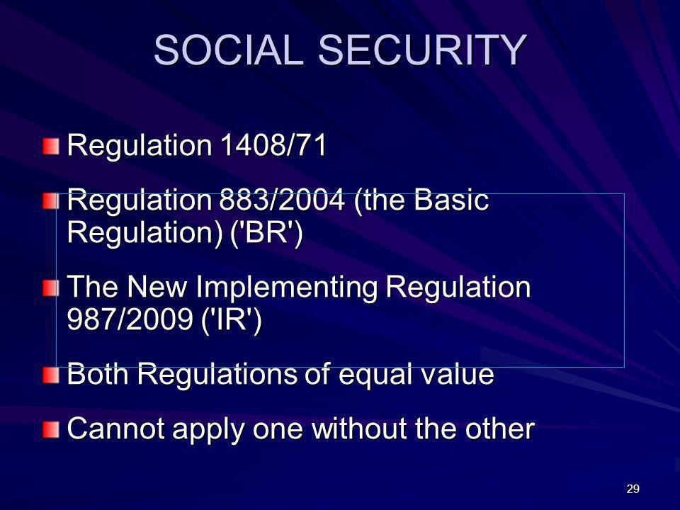 SOCIAL SECURITY Regulation 1408/71