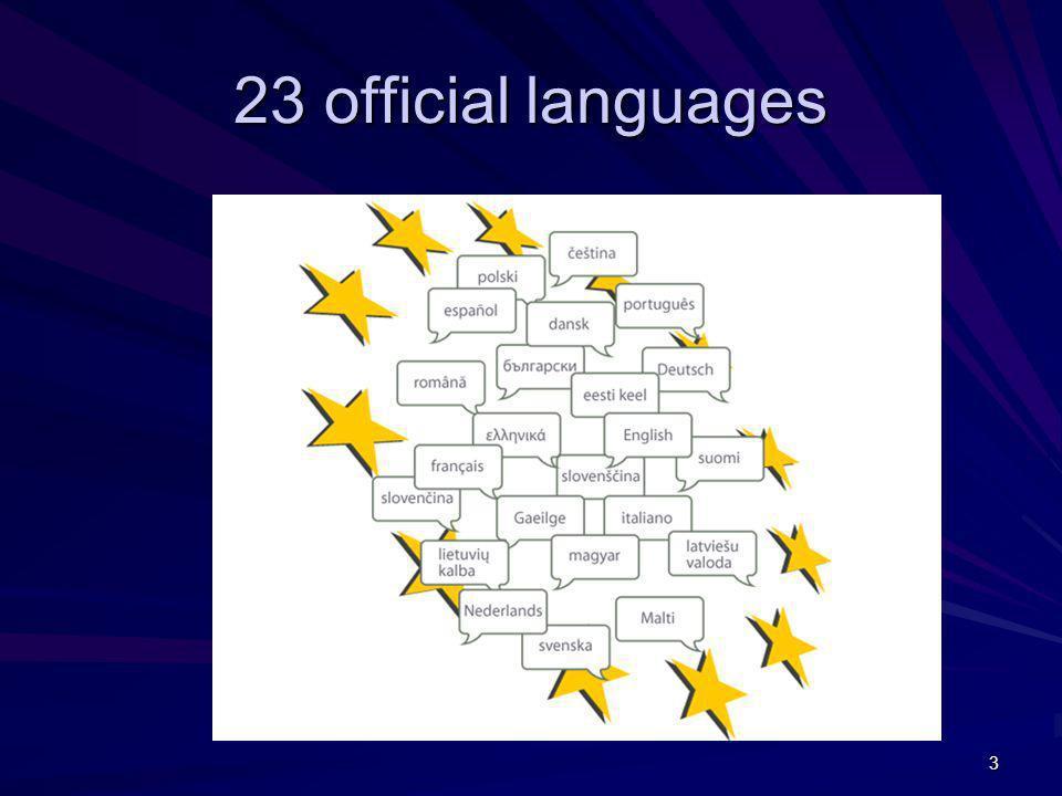 23 official languages 3