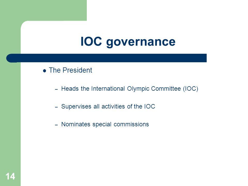 IOC governance The President