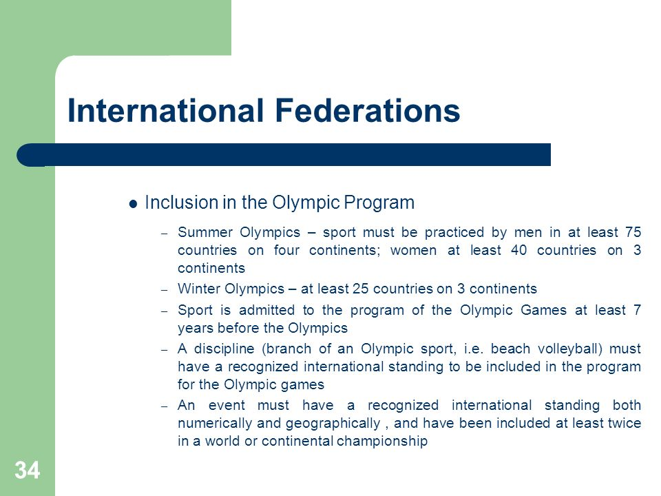 International Federations