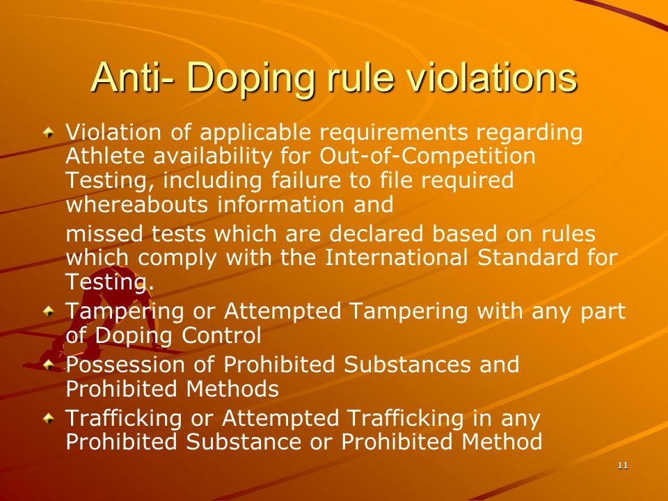 Anti- Doping rule violations
