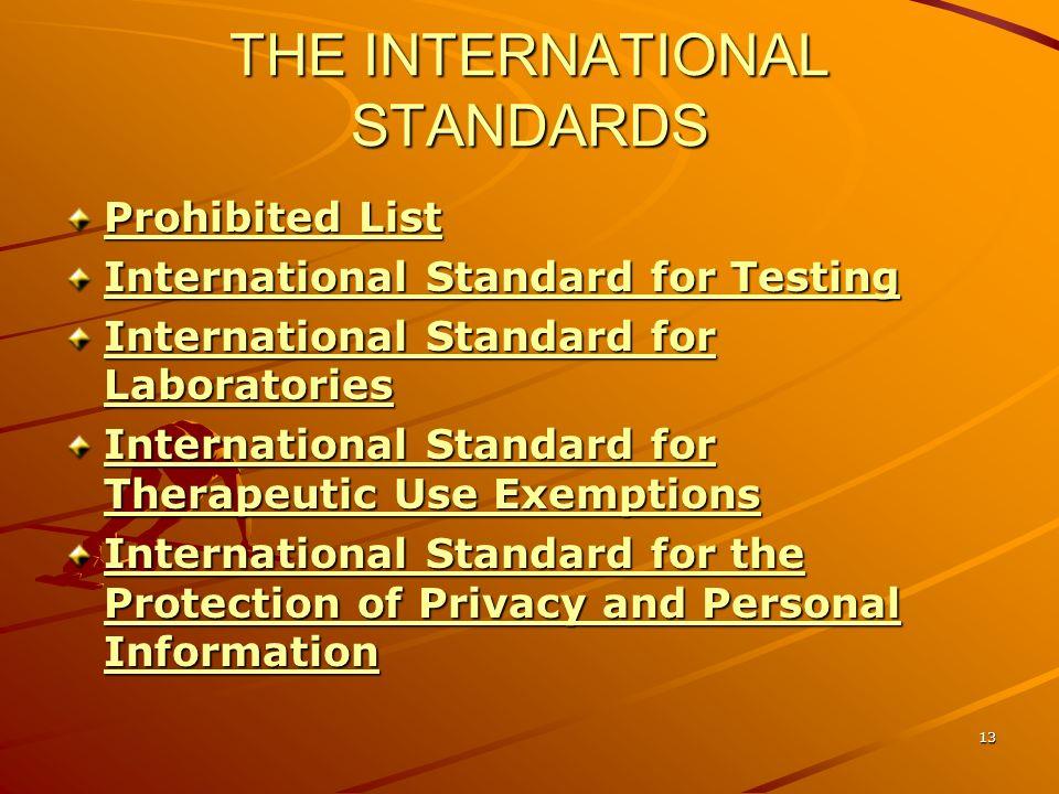 THE INTERNATIONAL STANDARDS