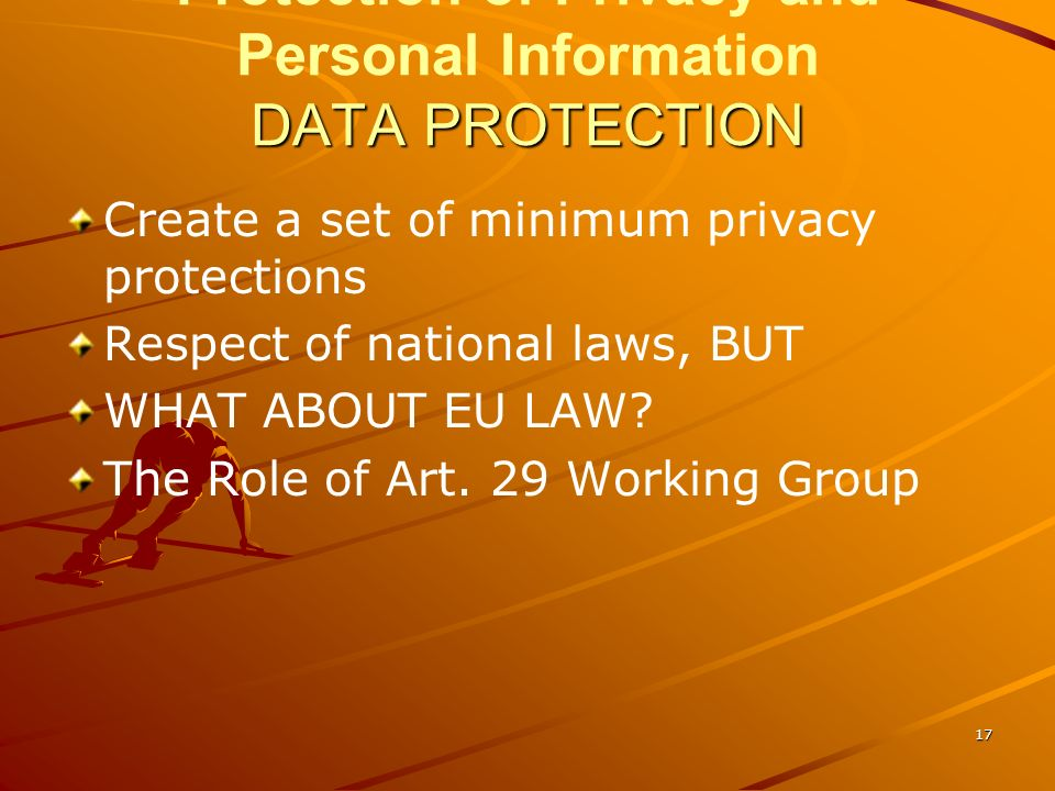Protection of Privacy and Personal Information DATA PROTECTION