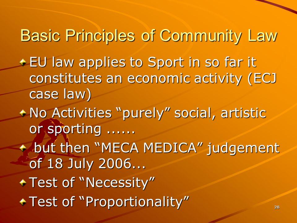 Basic Principles of Community Law