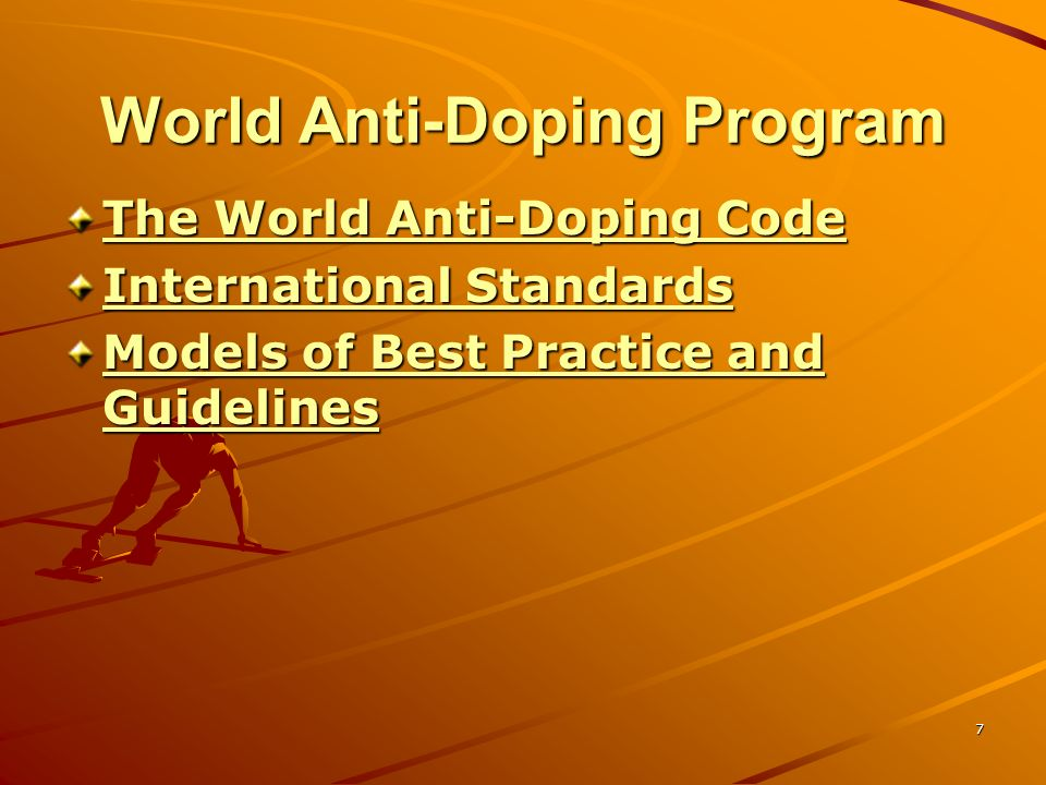 World Anti-Doping Program