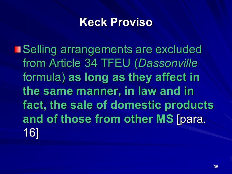 Keck Proviso