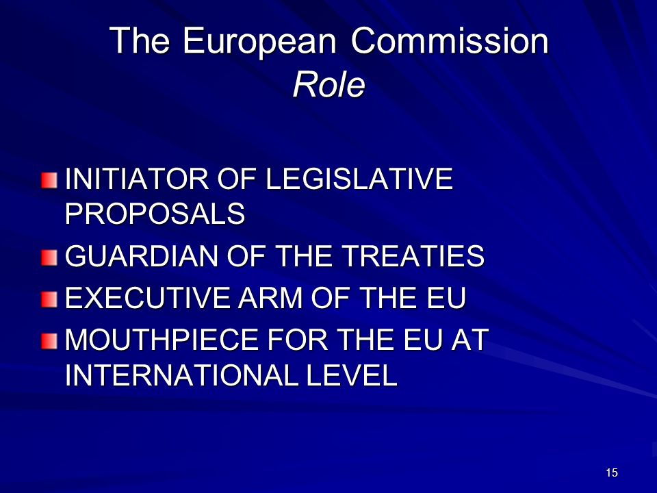 The European Commission Role