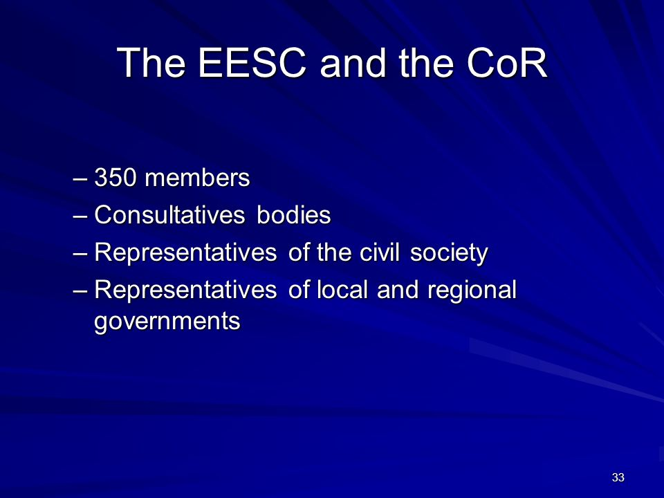 The EESC and the CoR 350 members Consultatives bodies