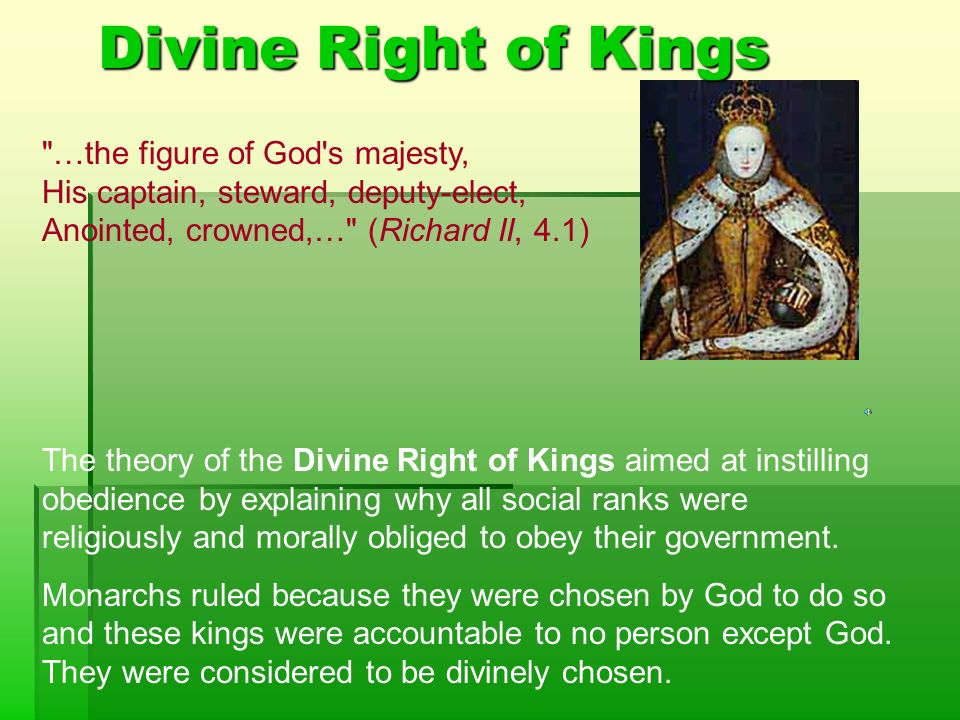 Elizabethan Beliefs The Great Chain of Being Divine Right ...