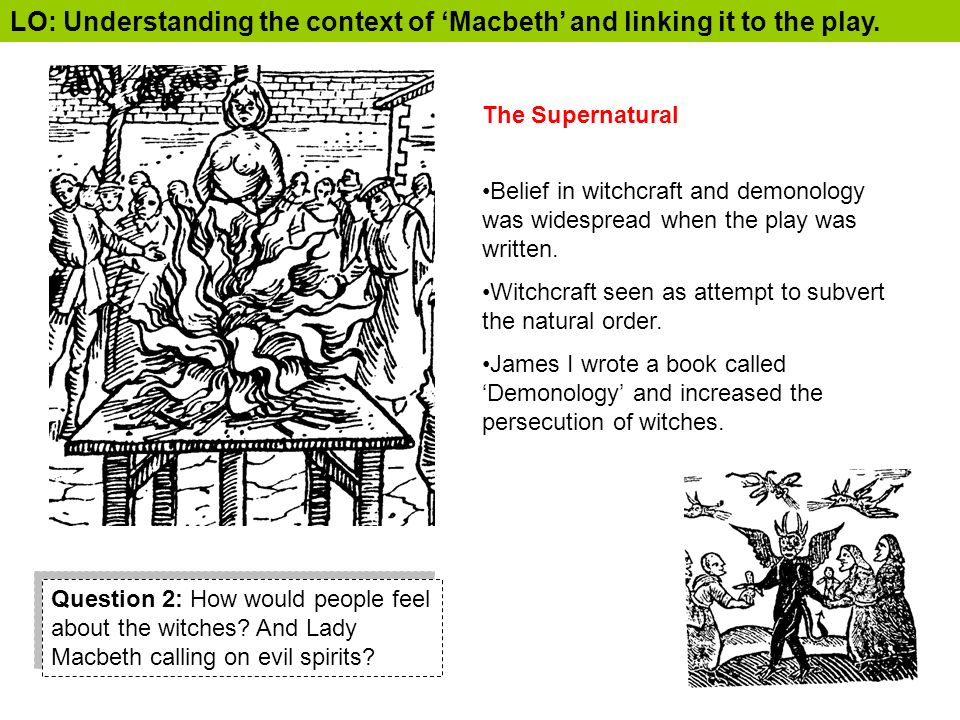 The theme of the supernatural element in act 1 scene 1 of the play macbeth by william shakespeare