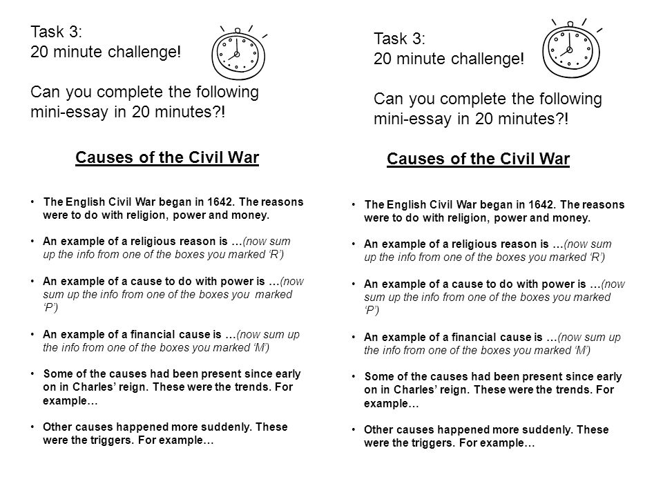 Causes Of The Civil War Essay Thesis