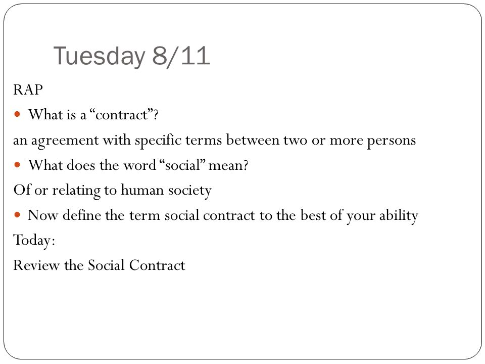 Tuesday 811 Rap What Is A Contract Ppt Video Online Download