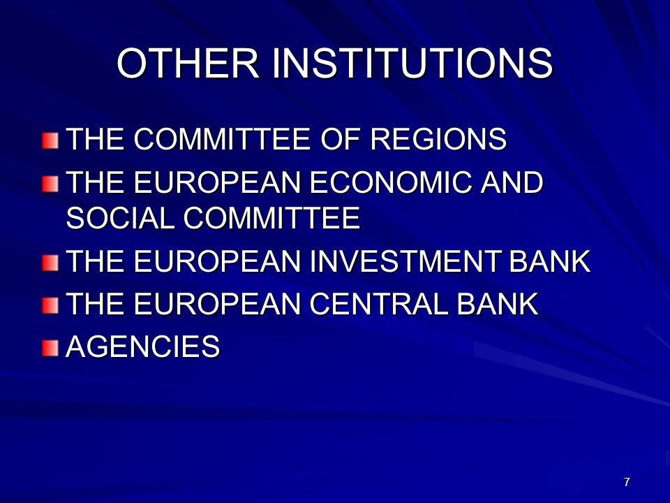 OTHER INSTITUTIONS THE COMMITTEE OF REGIONS
