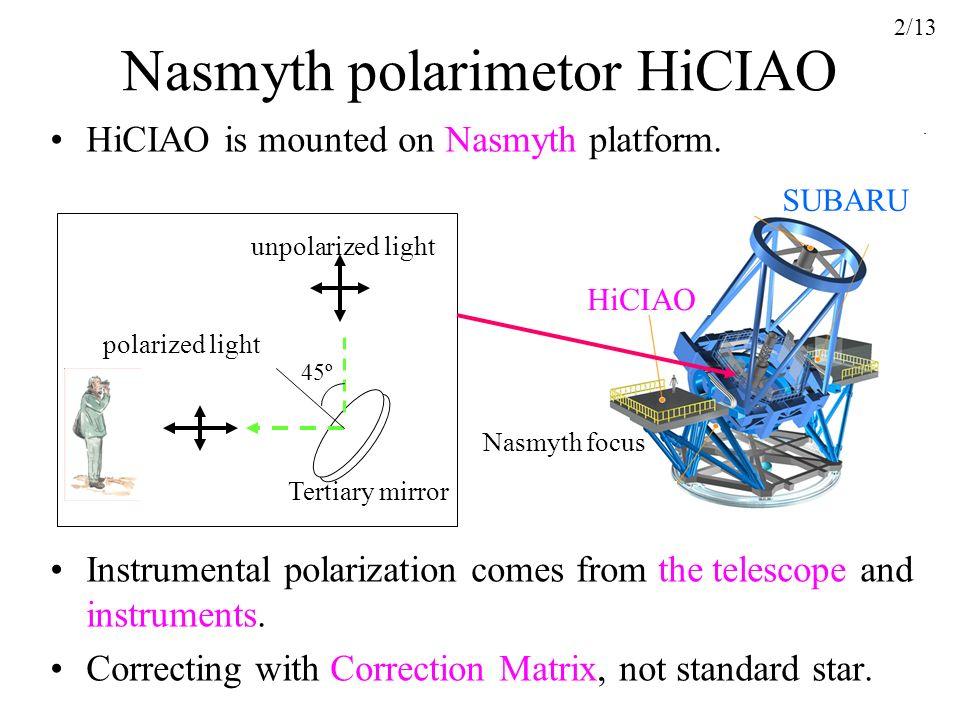 Nasmyth polarimetor HiCIAO
