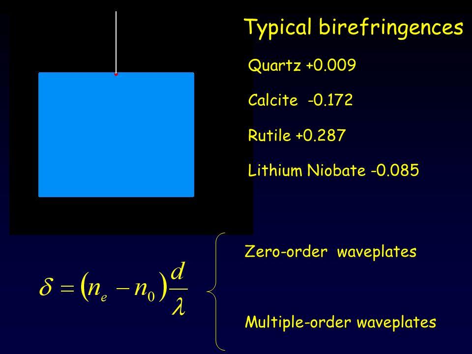 Typical birefringences