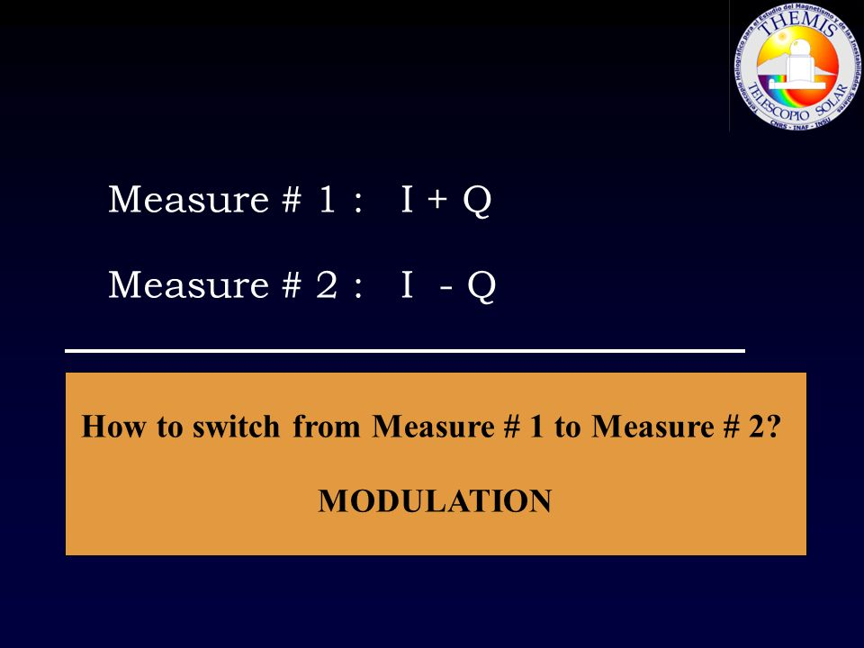 How to switch from Measure # 1 to Measure # 2