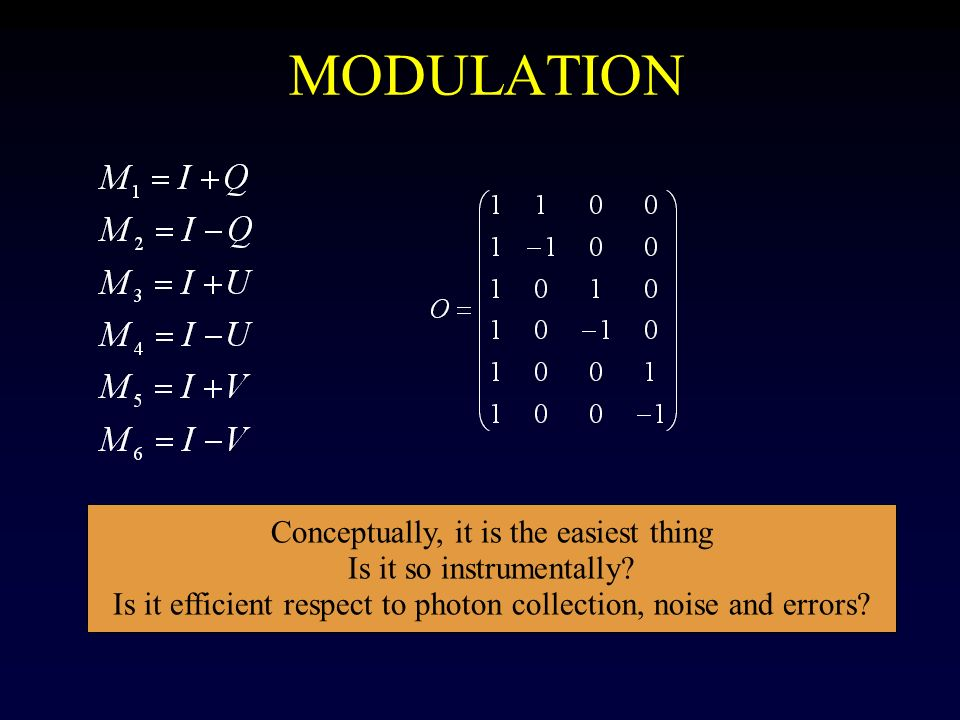 MODULATION Conceptually, it is the easiest thing