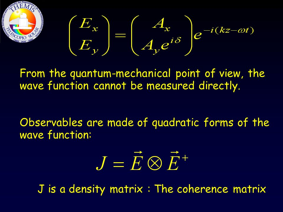 From the quantum-mechanical point of view, the wave function cannot be measured directly.
