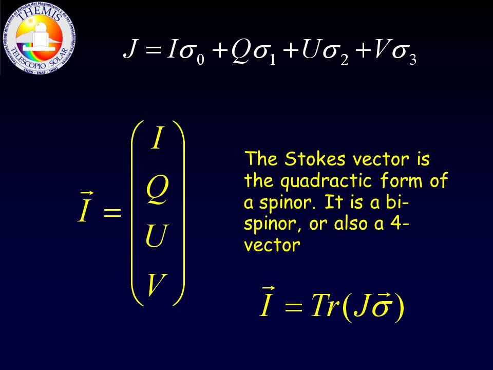 The Stokes vector is the quadractic form of a spinor