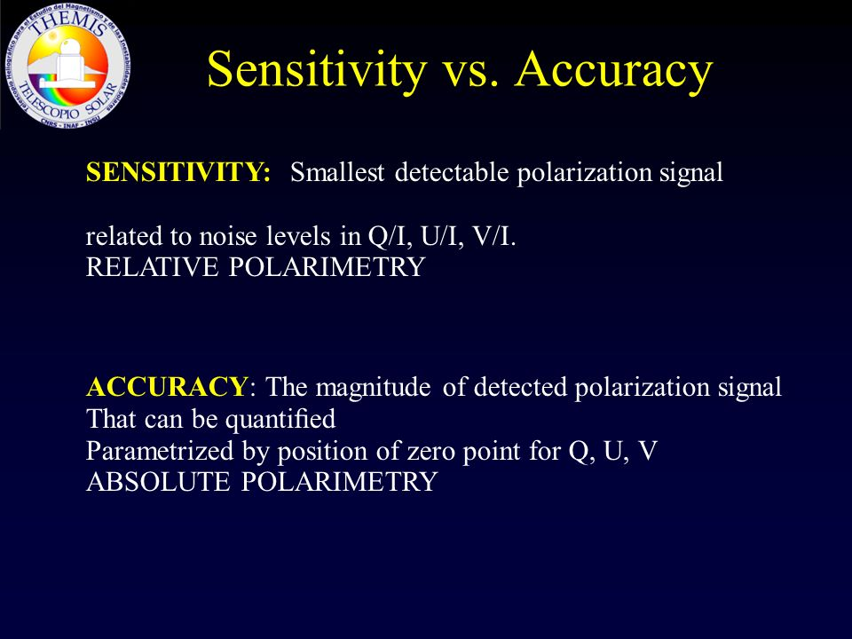 Sensitivity vs. Accuracy