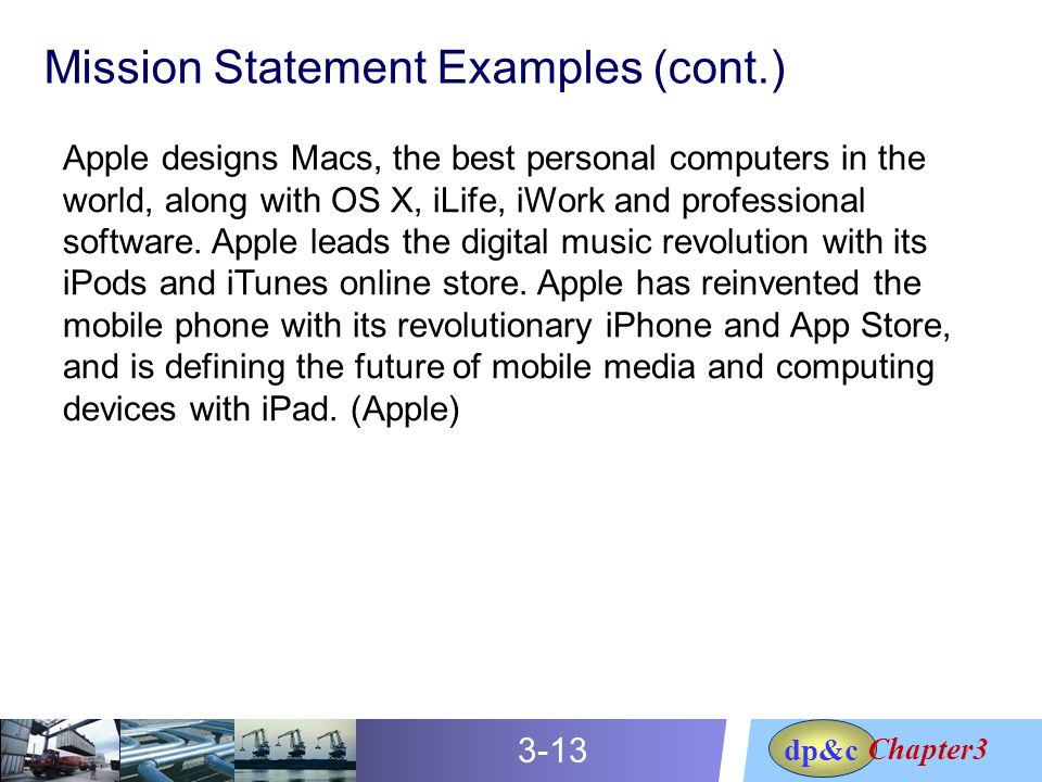 mission statement of apple inc