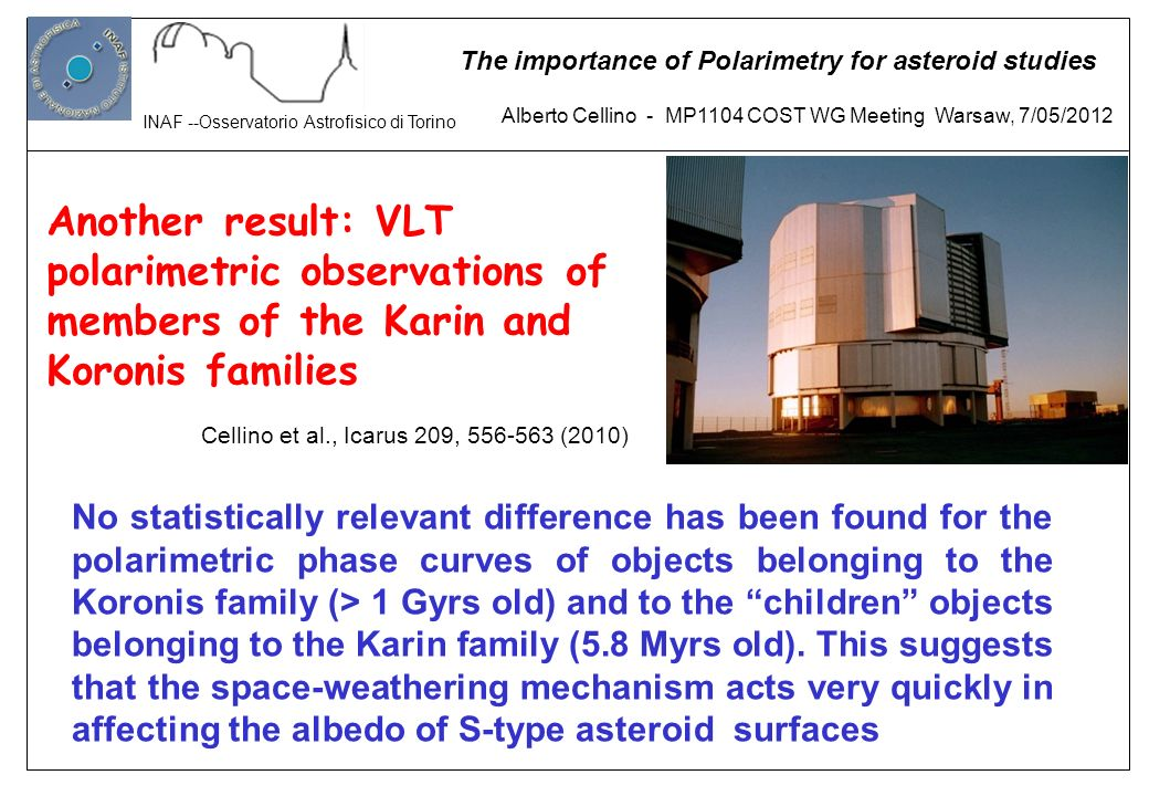 Another result: VLT polarimetric observations of members of the Karin and Koronis families