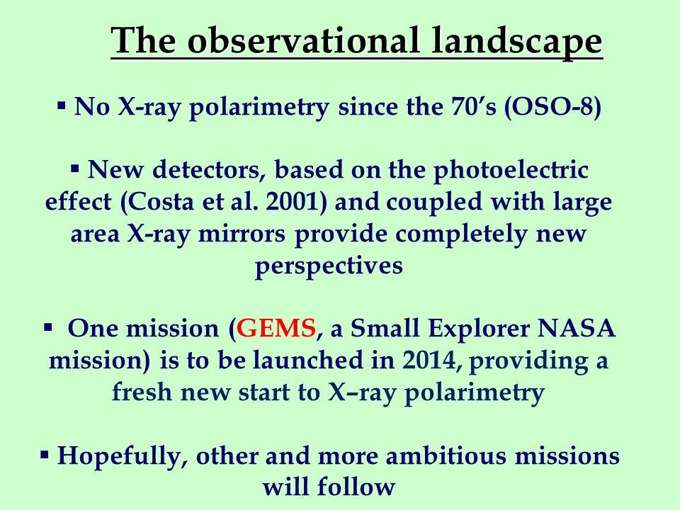 The observational landscape