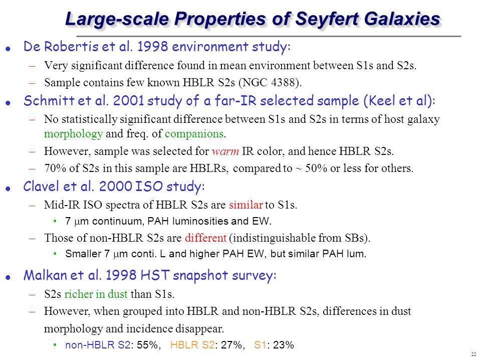 Large-scale Properties of Seyfert Galaxies