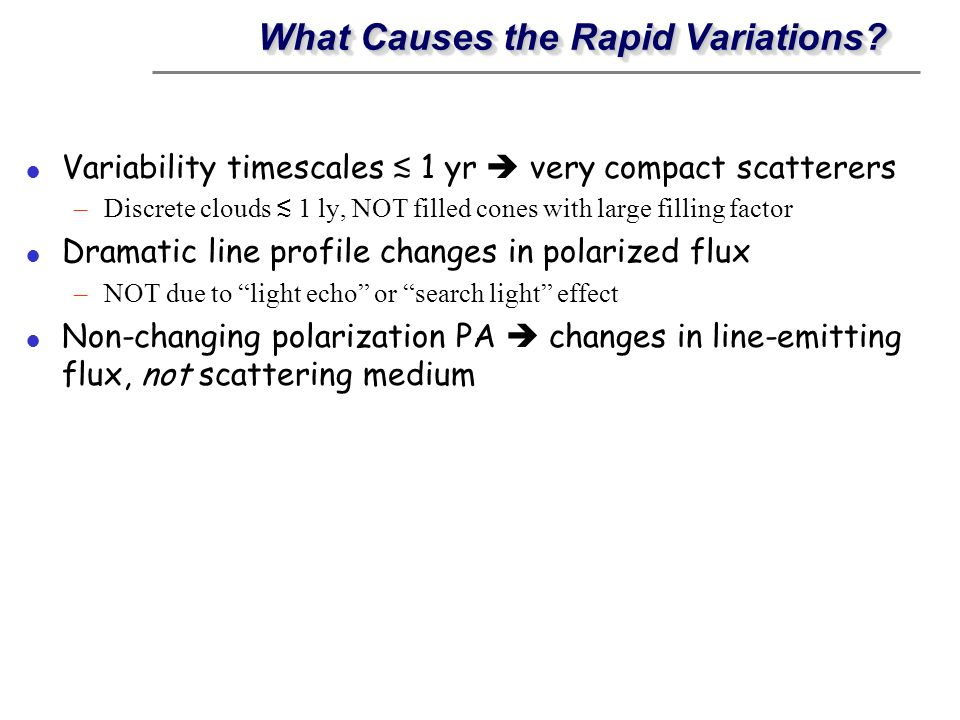 What Causes the Rapid Variations