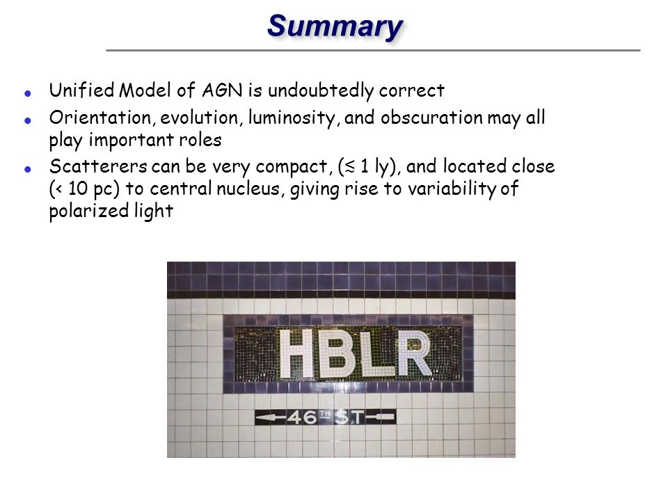 Summary Unified Model of AGN is undoubtedly correct