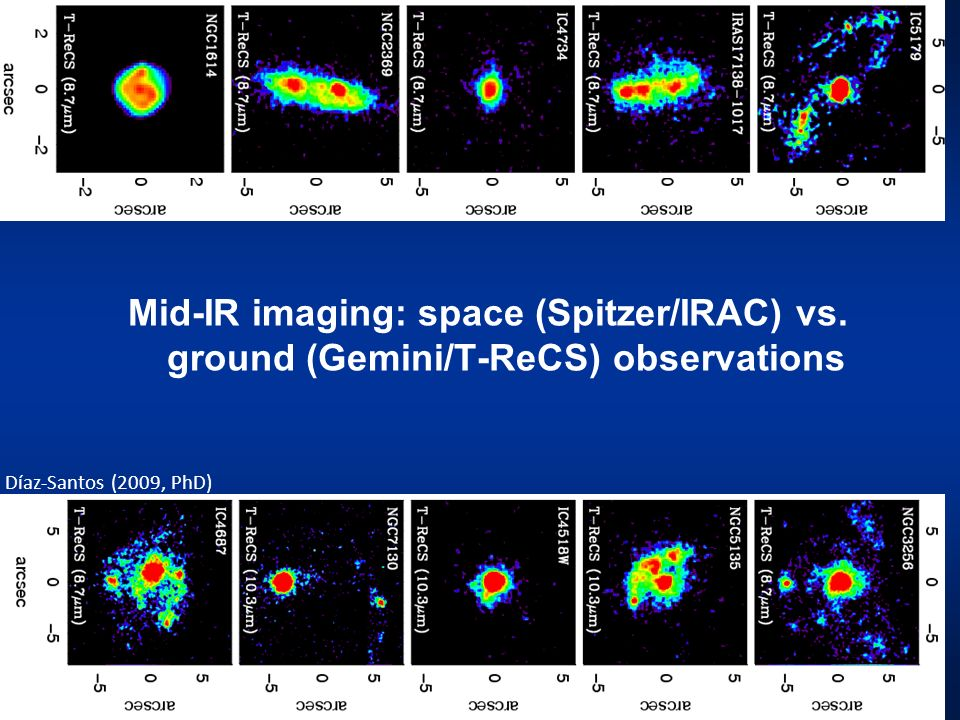 Mid-IR imaging: space (Spitzer/IRAC) vs