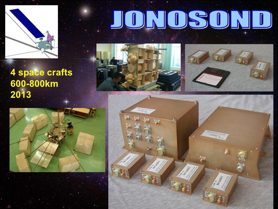 JONOSOND 4 space crafts 600-800km 2013