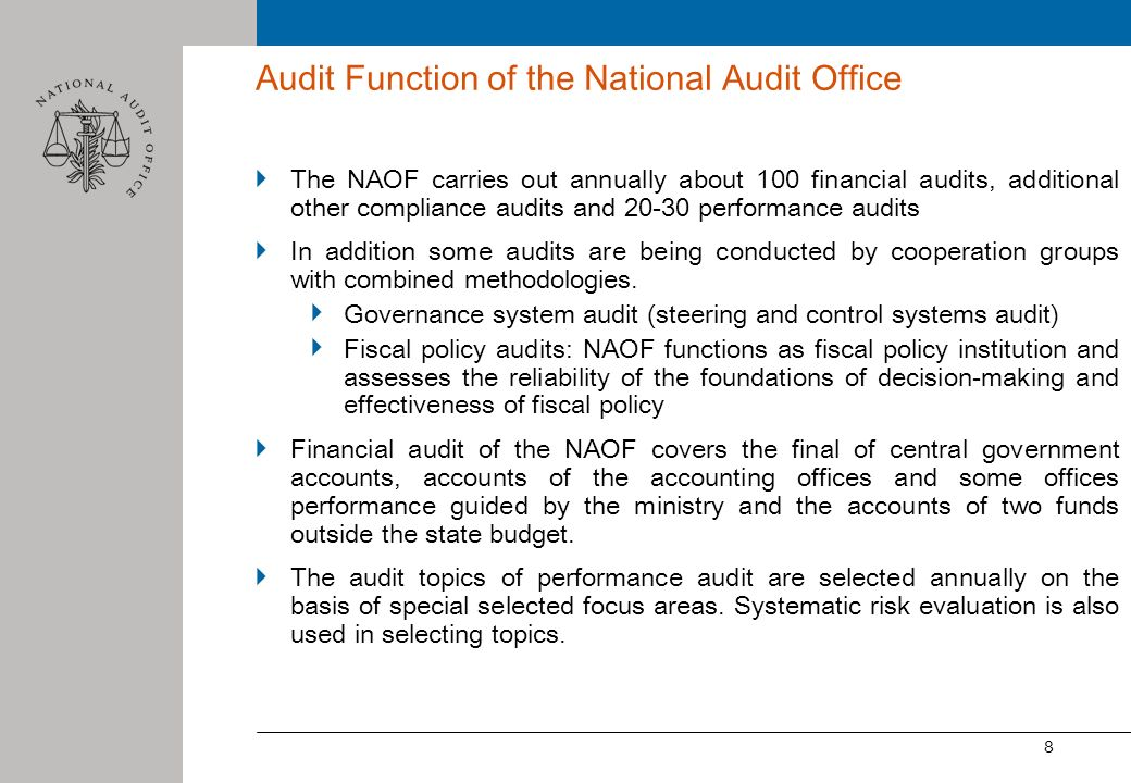 Audit Function of the National Audit Office