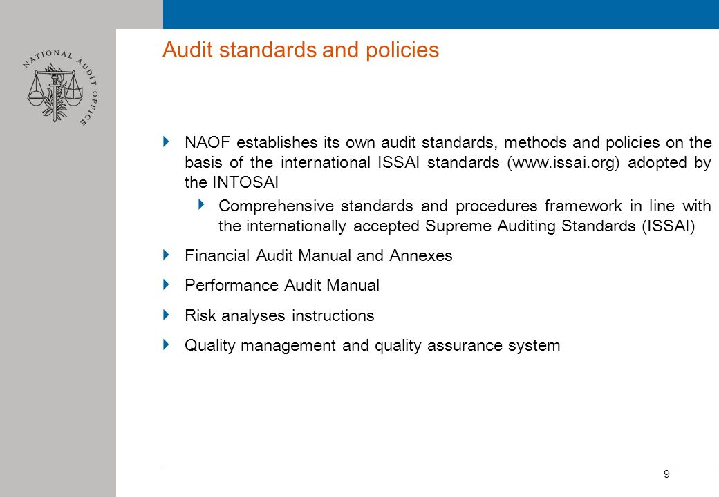 Audit standards and policies